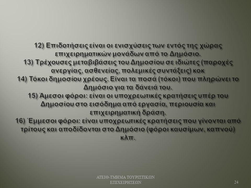 ΑΤΕΙΘ - ΤΜΗΜΑ ΤΟΥΡΙΣΤΙΚΩΝ ΕΠΙΧΕΙΡΗΣΕΩΝ 24