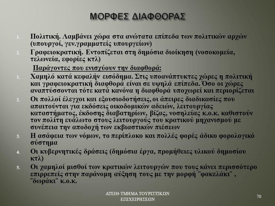 ΜΟΡΦΕΣ ΔΙΑΦΘΟΡΑΣ 1.Πολιτική.