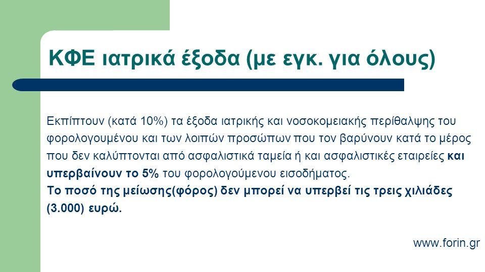 ΚΦΕ ιατρικά έξοδα (με εγκ.