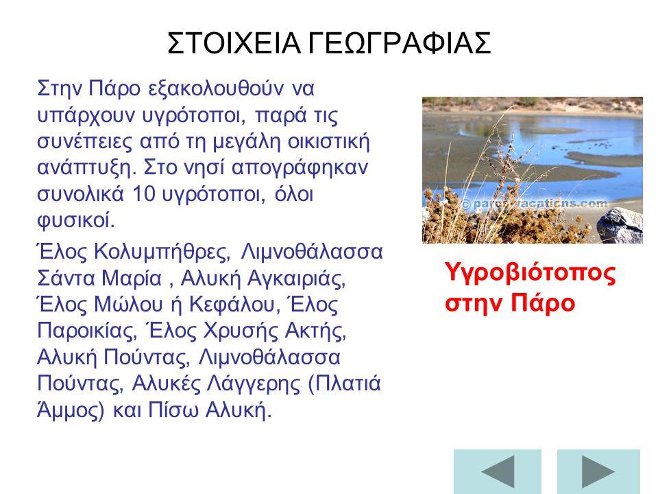 Από την Πάρο δεν έλειψαν και οι Γερμανοί, αναγκάζοντας τους παριανούς να φύγουν για τον Πειραιά ή για το εξωτερικό.
