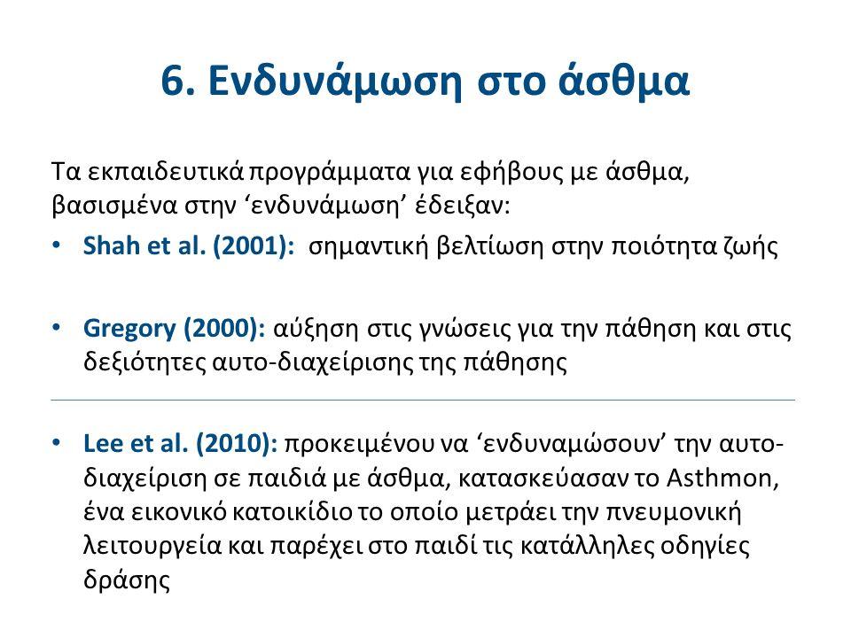 Τα εκπαιδευτικά προγράμματα για εφήβους με άσθμα, βασισμένα στην 'ενδυνάμωση' έδειξαν: Shah et al.