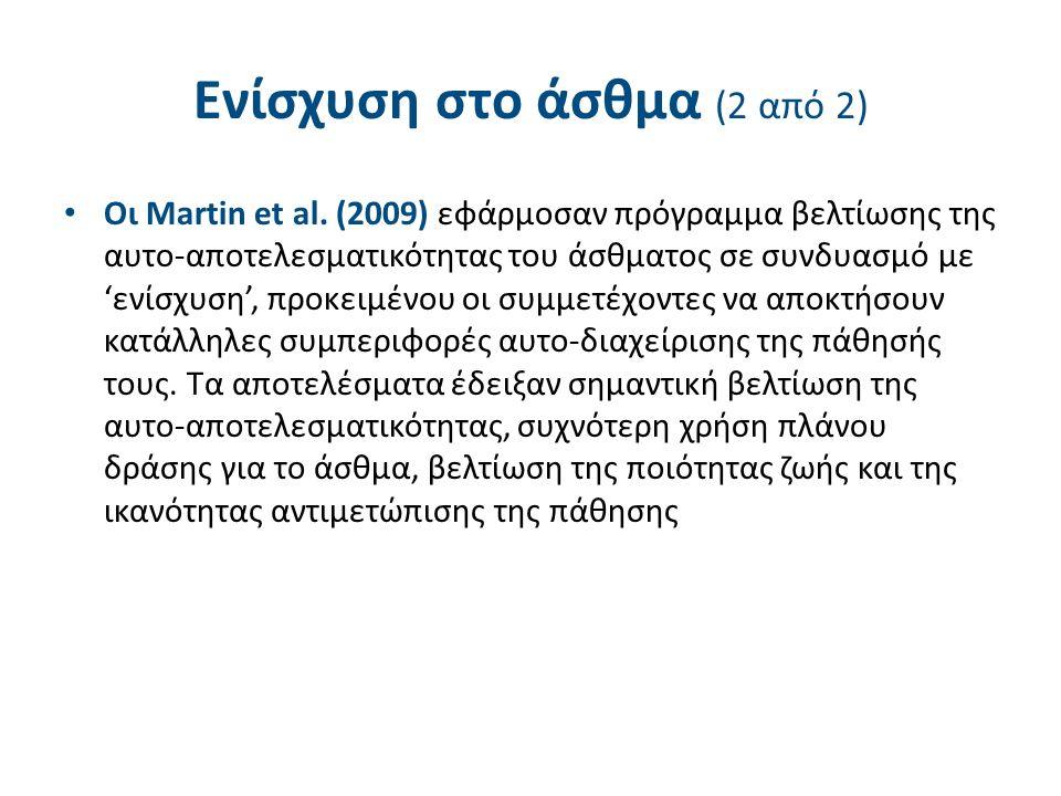 Ενίσχυση στο άσθμα (2 από 2) Οι Martin et al.