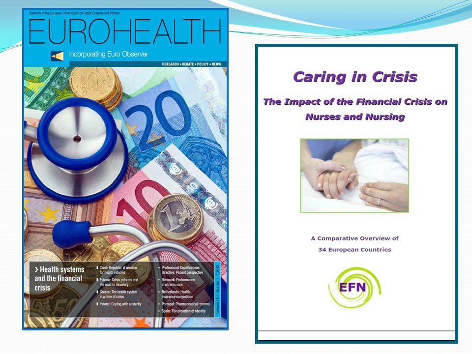 Πάνω από τα μισά μέλη της EFN αναφέρουν : - μειώσεις μισθών, - πάγωμα μισθών και - αυξημένα ποσοστά ανεργίας νοσηλευτών.