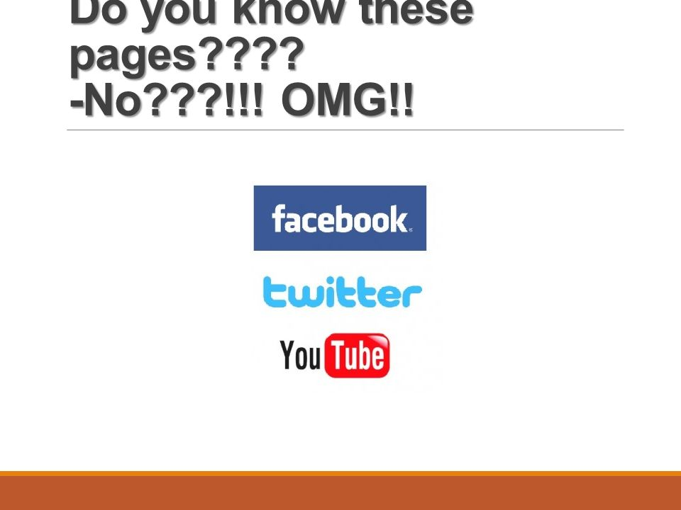 Do you know these pages -No !!! OMG!!