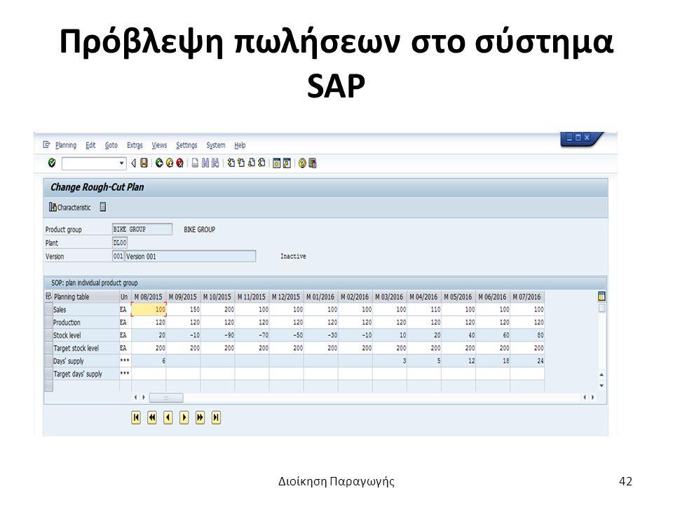 Πρόβλεψη πωλήσεων στο σύστημα SAP Διοίκηση Παραγωγής42