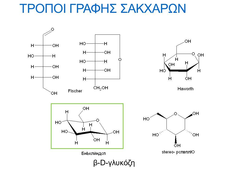 Ονοματολογία σακχάρων Η ονομασία των σακχάρων βασίζεται στον αριθμό ατόμων άνθρακα του μορίου: τετρόζη, πεντόζη, εξόζη, επτόζη, και στο είδος της καρβονυλομάδας (π.χ.