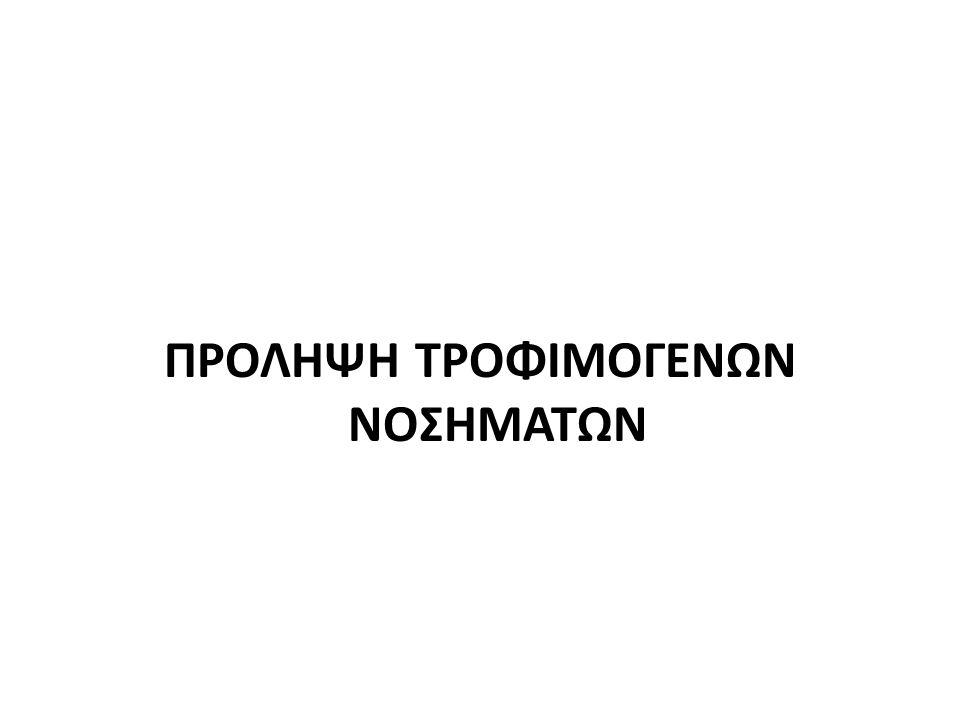 ΠΡΟΛΗΨΗ ΤΡΟΦΙΜΟΓΕΝΩΝ ΝΟΣΗΜΑΤΩΝ
