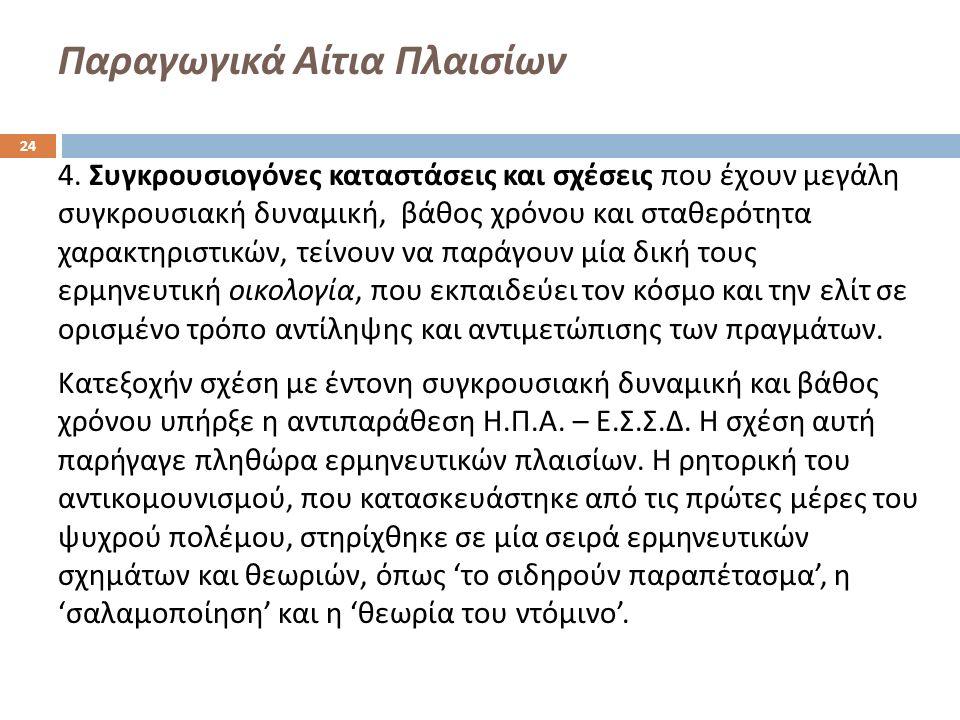 Παραγωγικά Αίτια Πλαισίων 4.