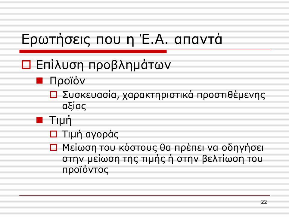 22 Ερωτήσεις που η Έ.Α.