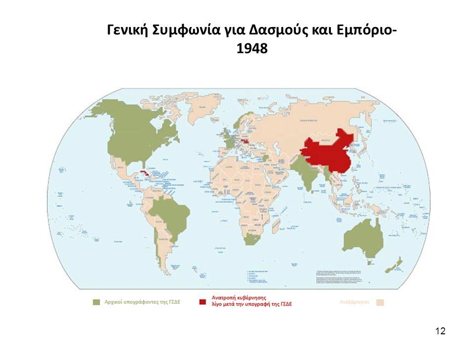 Γενική Συμφωνία για Δασμούς και Εμπόριο- 1948 12