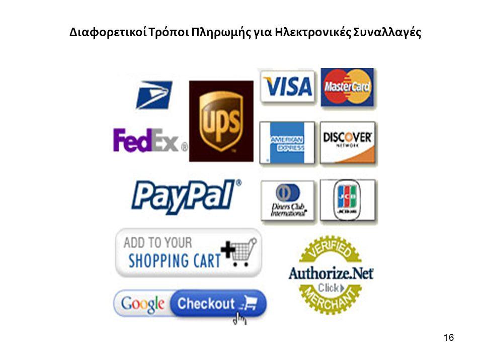 Διαφορετικοί Τρόποι Πληρωμής για Ηλεκτρονικές Συναλλαγές 16