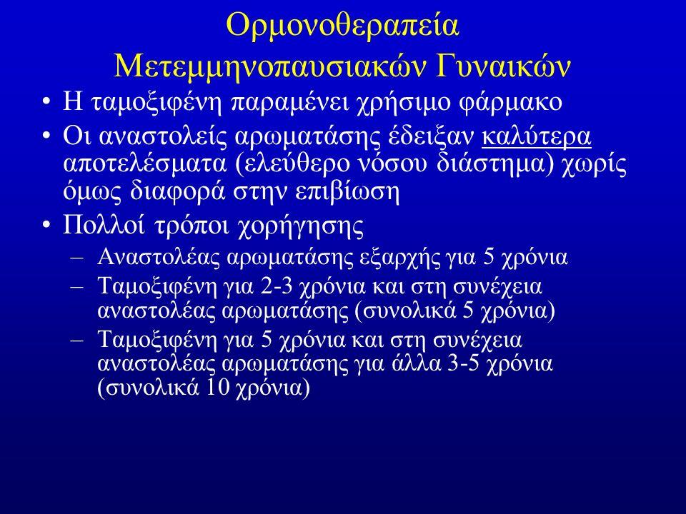Ορμονοθεραπεία Μετεμμηνοπαυσιακών Γυναικών Η ταμοξιφένη παραμένει χρήσιμο φάρμακο Οι αναστολείς αρωματάσης έδειξαν καλύτερα αποτελέσματα (ελεύθερο νόσ