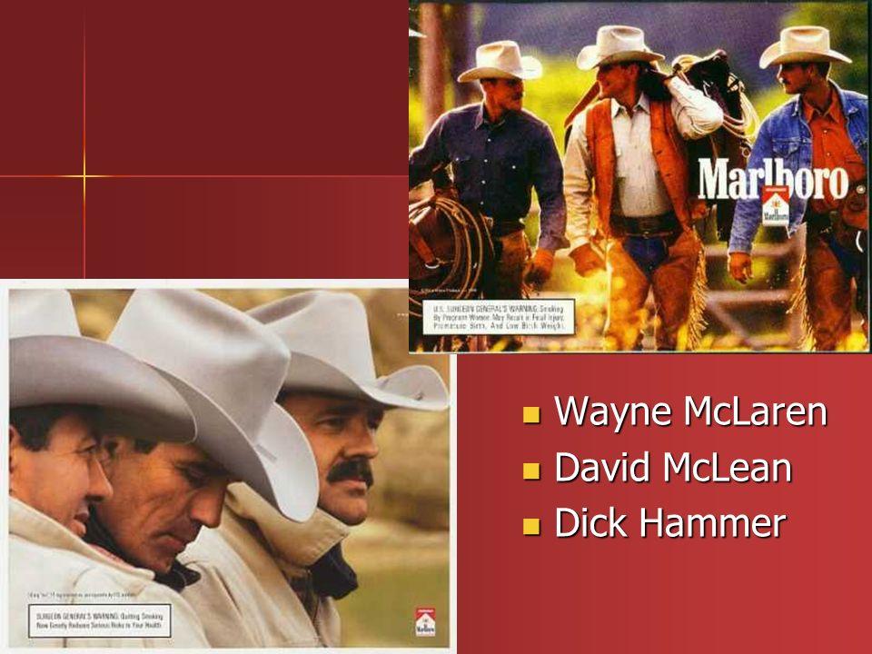 Wayne McLaren Wayne McLaren David McLean David McLean Dick Hammer Dick Hammer