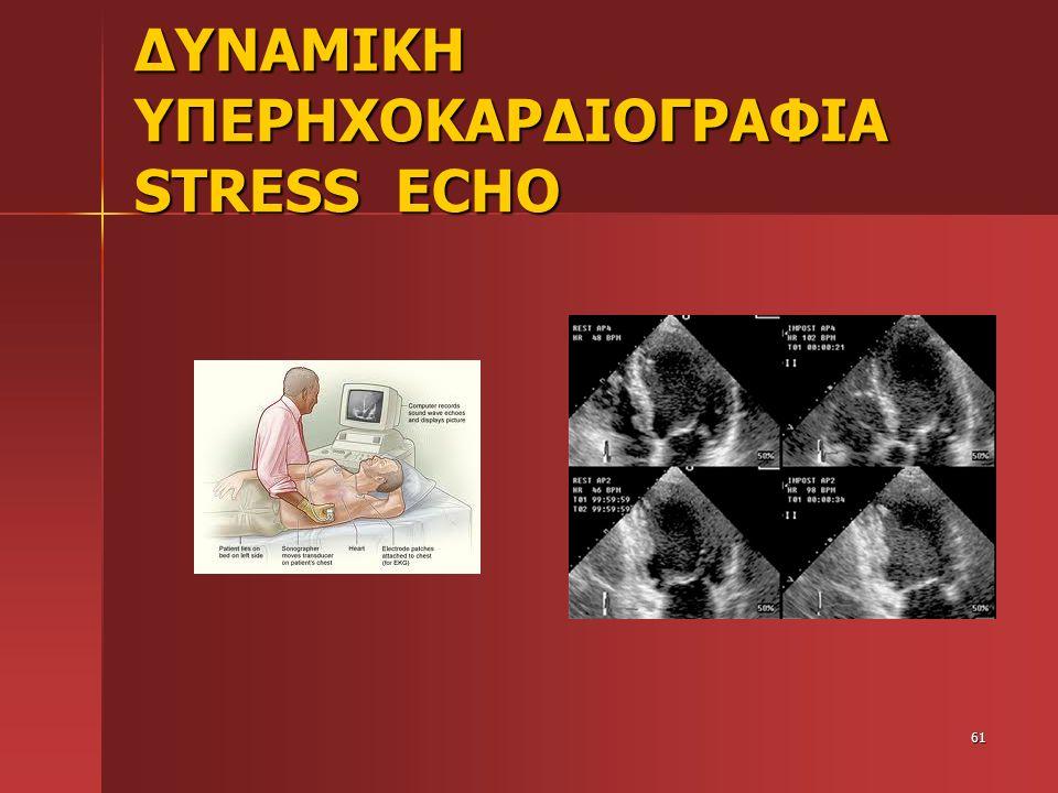 ΔΥΝΑΜΙΚΗ ΥΠΕΡΗΧΟΚΑΡΔΙΟΓΡΑΦΙΑ STRESS ECHO 61