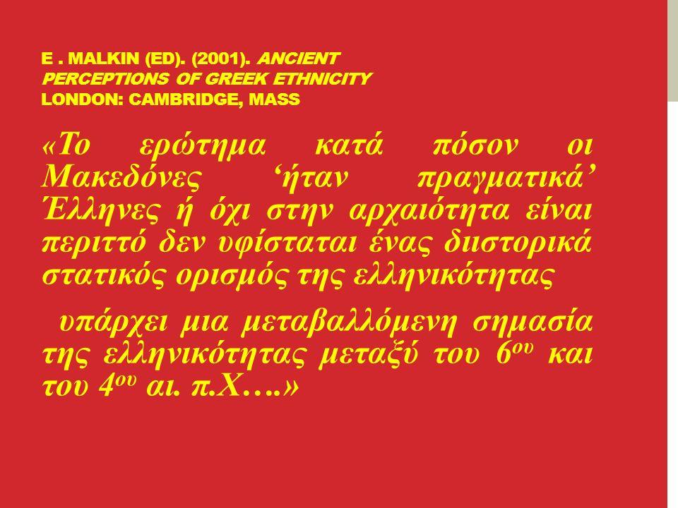 E.MALKIN (ED). (2001).