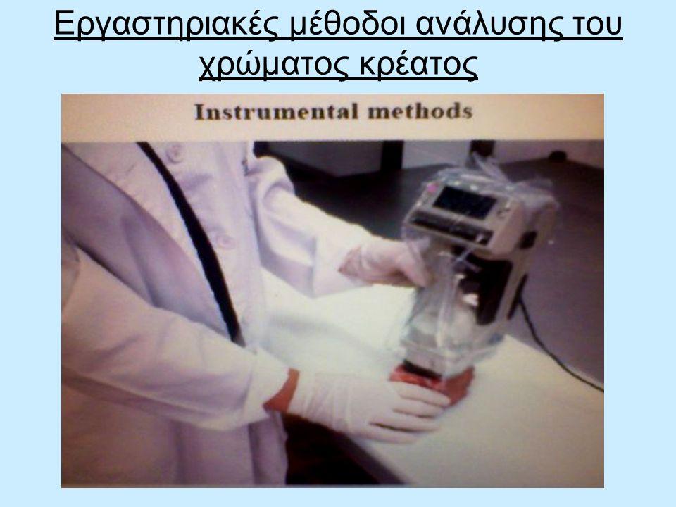 Εργαστηριακές μέθοδοι ανάλυσης του χρώματος κρέατος
