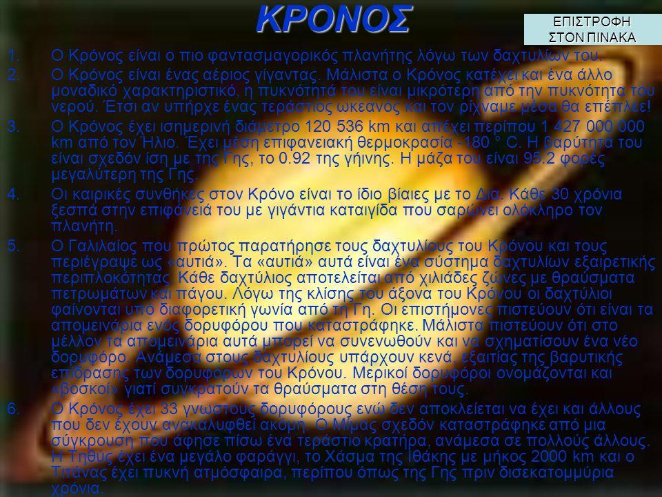ΔΙΑΣ 1.Ο Δίας δίκαια πήρε το όνομα του βασιλιά των Θεών της αρχαίας ελληνικής μυθολογίας. Είναι ο μεγαλύτερος πλανήτης του Ηλιακού μας Συστήματος. 2.Ο
