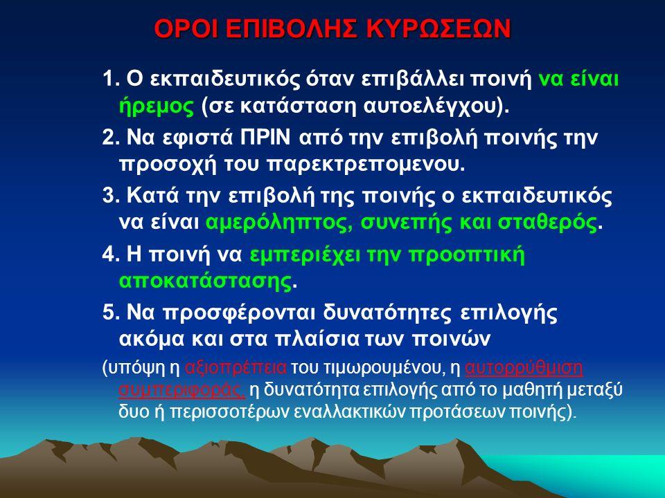 ΟΡΟΙ ΕΠΙΒΟΛΗΣ ΚΥΡΩΣΕΩΝ 1.