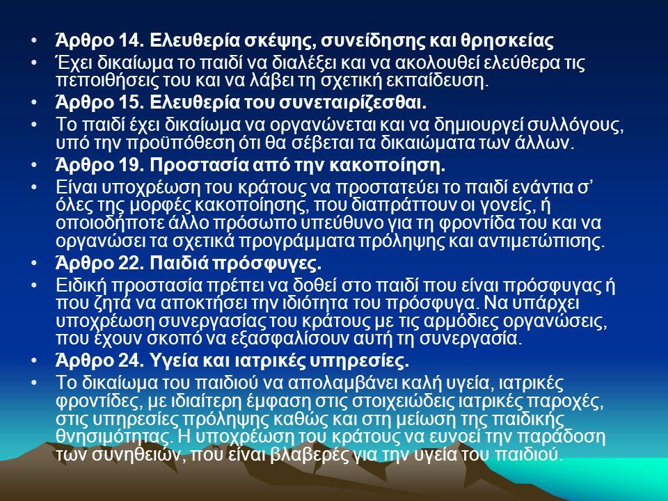 Άρθρο 14.