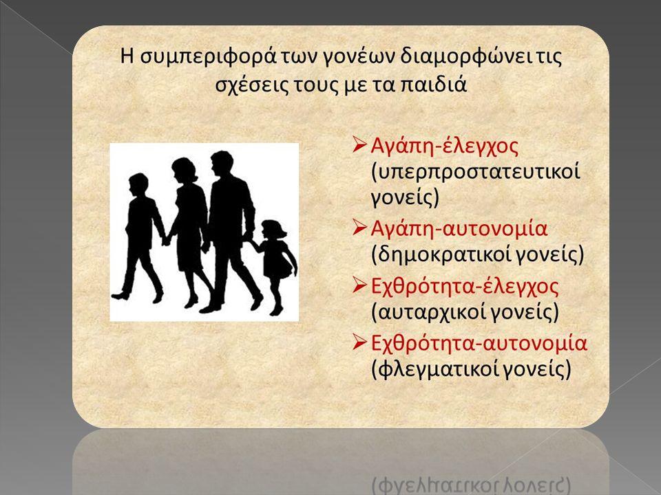  Επίσης, η οικογένεια τροφοδοτεί με κοινωνικές θέσεις τα άτομα-μέλη της κοινωνίας.