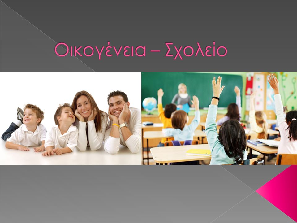  Η οικογένεια και το σχολείο είναι οι δύο σημαντικότεροι παράγοντες αγωγής, που ενεργούν όχι μόνο ανεξάρτητα αλλά και σε στενή αλληλεξάρτηση μεταξύ τους, δημιουργώντας σχέσεις μη γραμμικές, ποικιλόμορφες, πολύπλοκες και κατά περίπτωση άνισες, ως προς το βαθμό επίδρασης που ασκούν στο παιδί-μαθητή.