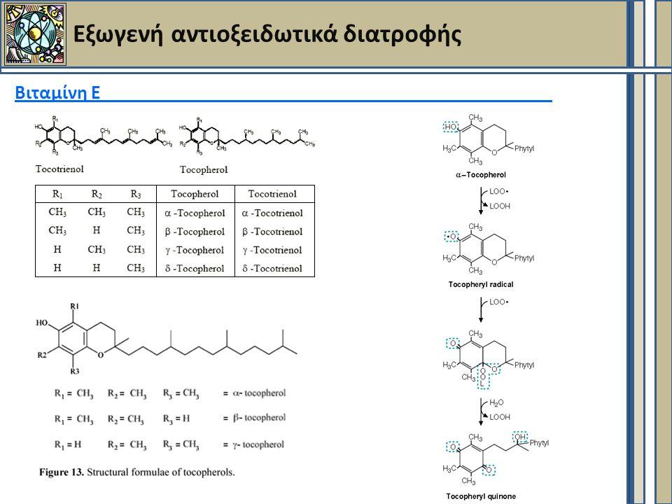Εξωγενή αντιοξειδωτικά διατροφής Βιταμίνη Ε