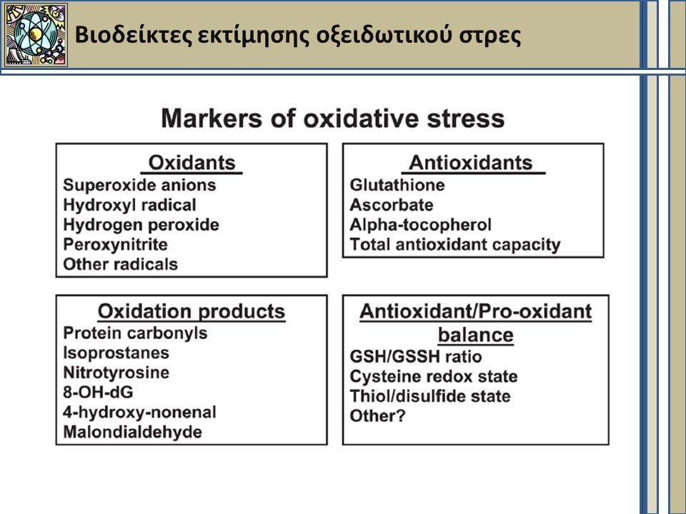 Βιοδείκτες εκτίμησης οξειδωτικού στρες