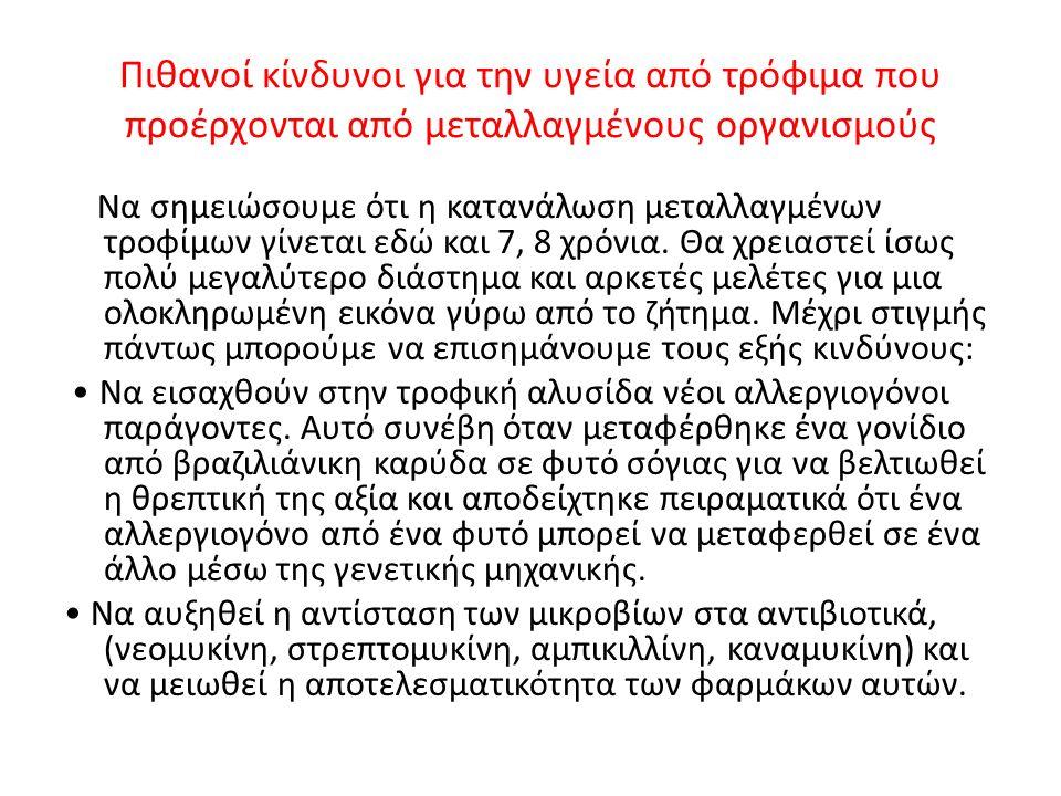 Τι συμβαίνει στην Ελλάδα Σύμφωνα με την ευρωπαϊκή νομοθεσία, η σήμανση των προϊόντων που περιέχουν μεταλλαγμένα συστατικά είναι υποχρεωτική.