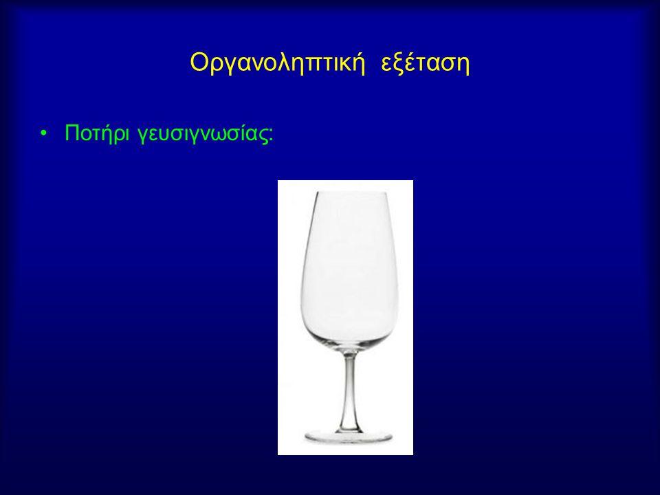 Οργανοληπτική εξέταση Ποτήρι γευσιγνωσίας: