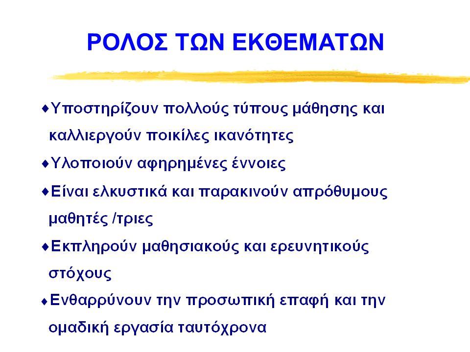 ΡΟΛΟΣ ΕΚΘΕΜΑΤΩΝ