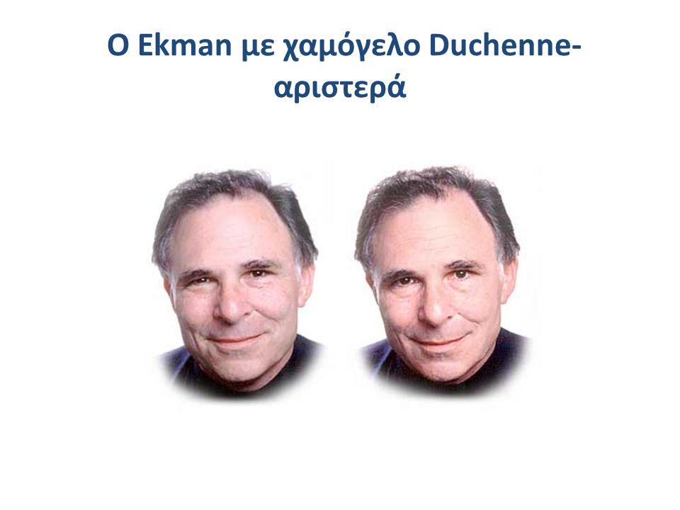 O Ekman με χαμόγελο Duchenne- αριστερά