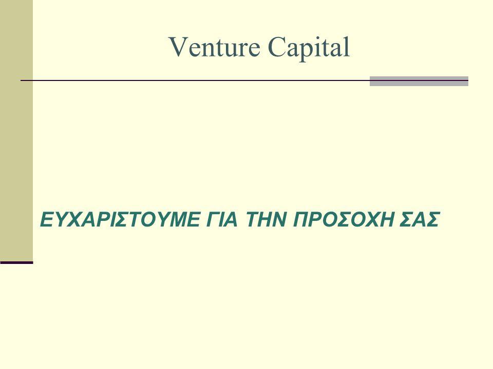 Venture Capital ΕΥΧΑΡΙΣΤΟΥΜΕ ΓΙΑ ΤΗΝ ΠΡΟΣΟΧΗ ΣΑΣ
