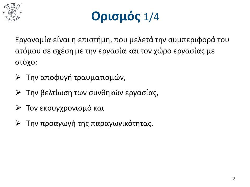 Εργονομική διαδικασία 43 1.Προσδιορισμός δραστηριότητας 2.