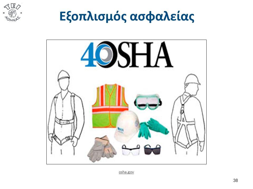 Εξοπλισμός ασφαλείας osha.gov 38