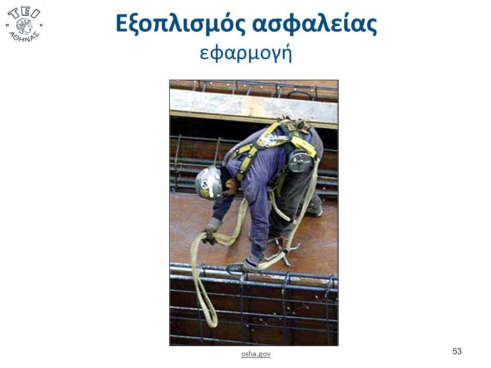 Εξοπλισμός ασφαλείας εφαρμογή osha.gov 53
