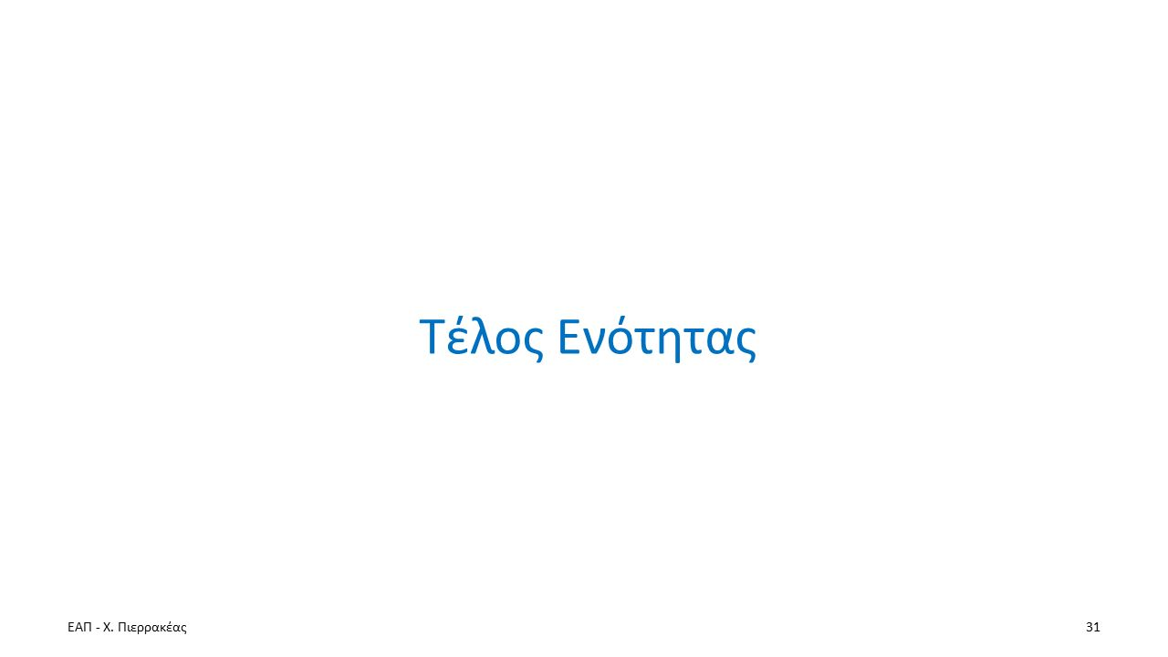 ΕΑΠ - Χ. Πιερρακέας31 Τέλος Ενότητας