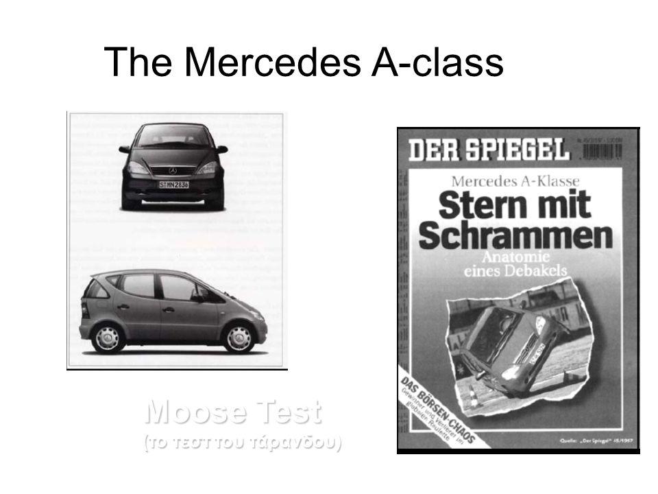 The Mercedes A-class Moose Test (το τεστ του τάρανδου)