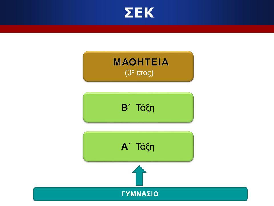 ΣΕΚ Β΄ Τάξη Α΄ Τάξη ΓΥΜΝΑΣΙΟ