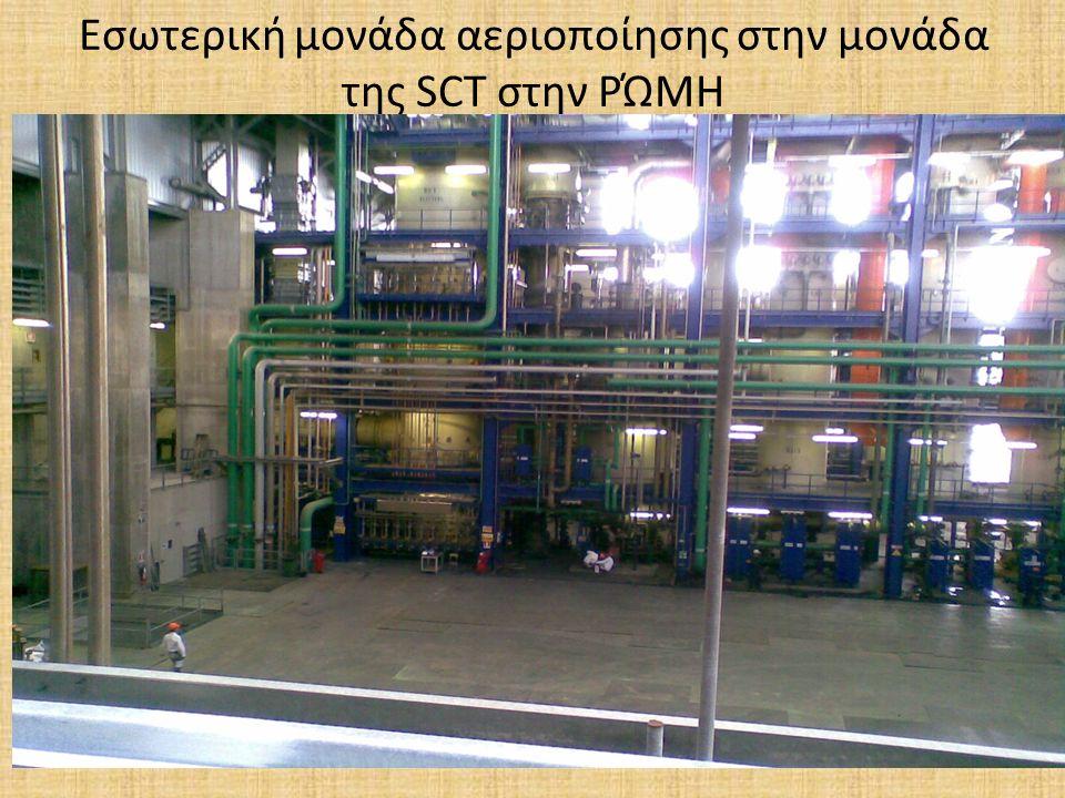 Εσωτερική μονάδα αεριοποίησης στην μονάδα της SCT στην ΡΏΜΗ