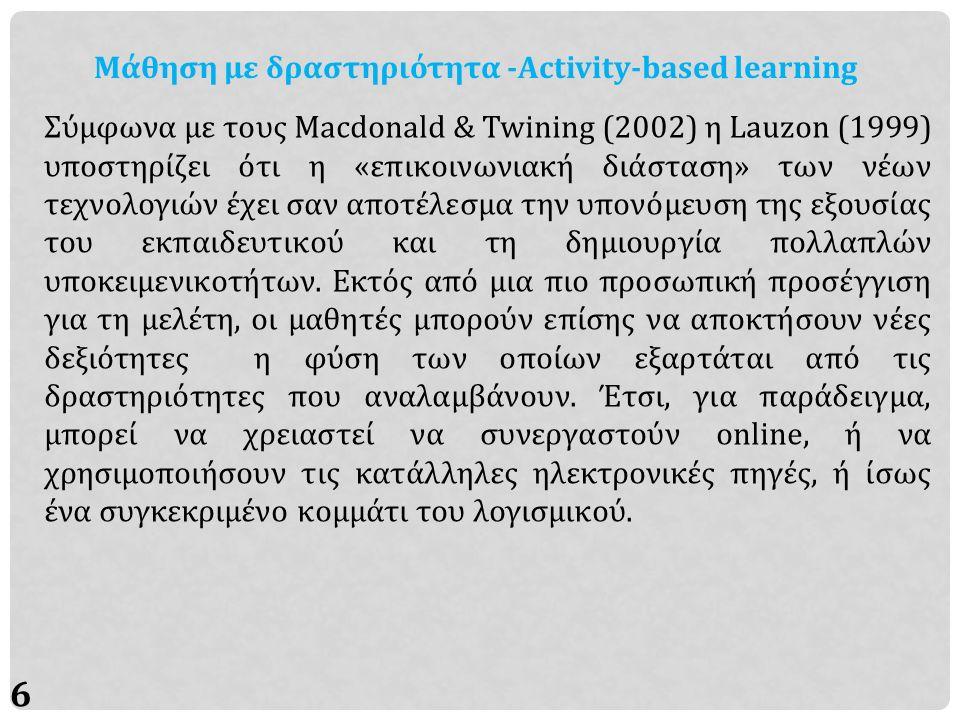 17 Αναφορές Macdonald, J., & Twining, P.(2002).