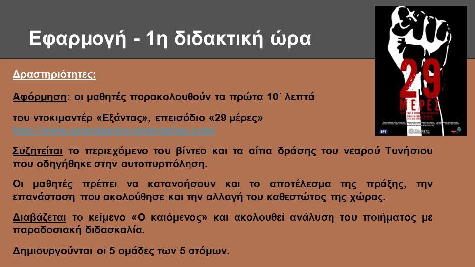 2η και 3η διδακτική ώρα Φύλλο εργασίας 1: Οι αρθρογράφοι Δείτε το μικρό αφιέρωμα στη Βικιπαίδεια στον Κώστα Γεωργάκη και στο http://www.mykerkyra.gr/articles/article6 και το βίντεο http://www.youtube.com/watch?v=IhcrMDm8UiU#t=135 (3.55΄ λεπτά) http://www.mykerkyra.gr/articles/article6 http://www.youtube.com/watch?v=IhcrMDm8UiU#t=135 Διαβάστε το άρθρο της εφημερίδας «Αθηναϊκή» στο http://anapolisi.blogspot.gr/2013/01/blog-post_5617.html και το πρωτοσέλιδο της ιταλικής Grecia, διαβάστε τις αντιδράσεις επωνύμων στο http://www.parapolitiki.com/2009/11/blog-post_7621.html http://anapolisi.blogspot.gr/2013/01/blog-post_5617.htmlhttp://www.parapolitiki.com/2009/11/blog-post_7621.html
