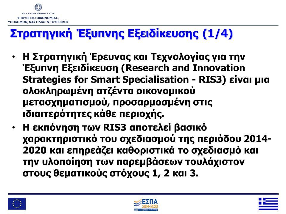 Στρατηγική Έξυπνης Εξειδίκευσης (1/4) Η Στρατηγική Έρευνας και Τεχνολογίας για την Έξυπνη Εξειδίκευση (Research and Innovation Strategies for Smart Sp