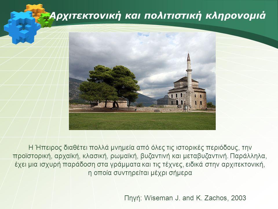 Αρχιτεκτονική και πολιτιστική κληρονομιά Πηγή: Wiseman J.