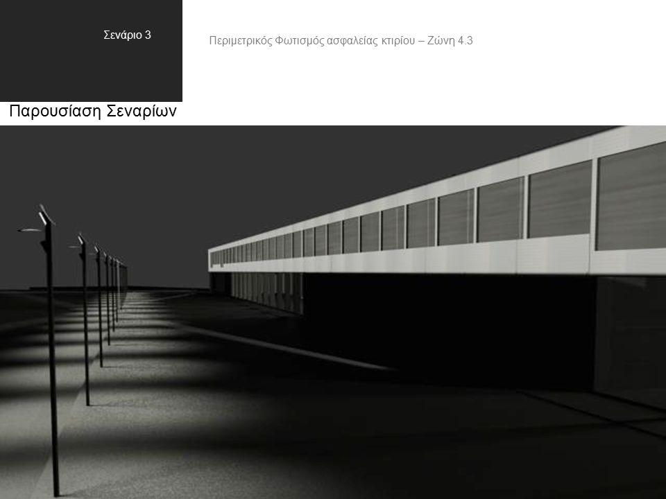 Παρουσίαση Σεναρίων Σενάριο 3 Περιμετρικός Φωτισμός ασφαλείας κτιρίου – Ζώνη 4.3