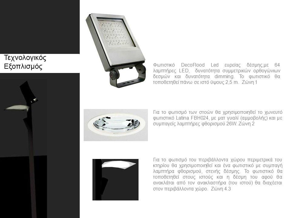 Τεχνολογικός Εξοπλισμός Φωτιστικό DecoFlood Led ευρείας δέσμης,με 64 λαμπτήρες LED, δυνατότητα συμμετρικών ορθογώνιων δεσμών και δυνατότητα dimming.