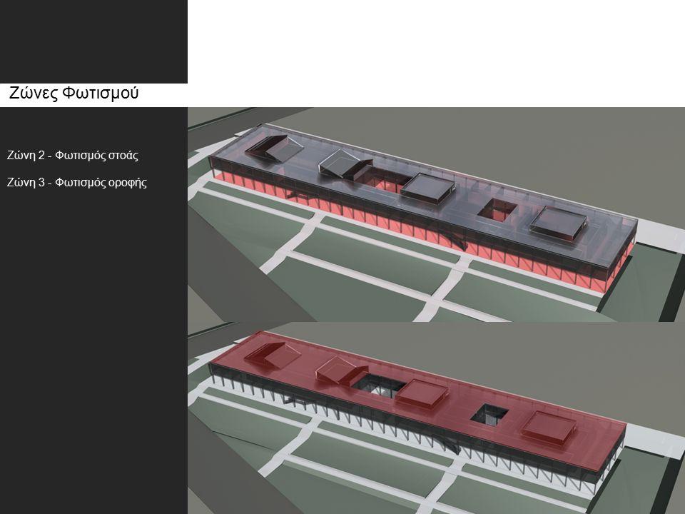 Ζώνες Φωτισμού Ζώνη 2 - Φωτισμός στοάς Ζώνη 3 - Φωτισμός οροφής