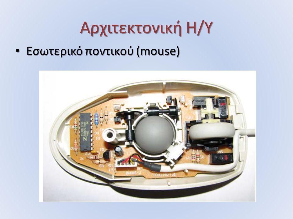 Αρχιτεκτονική Η/Υ Εσωτερικό ποντικού (mouse) Εσωτερικό ποντικού (mouse)