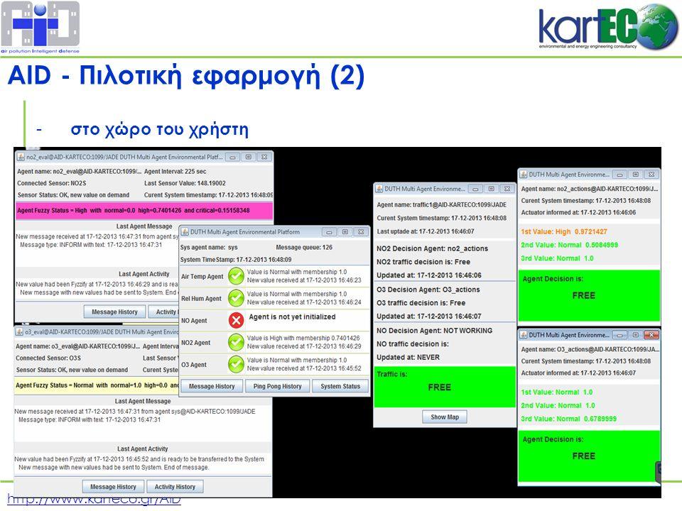 http://www.karteco.gr/AID - στο χώρο του χρήστη AID - Πιλοτική εφαρμογή (2)