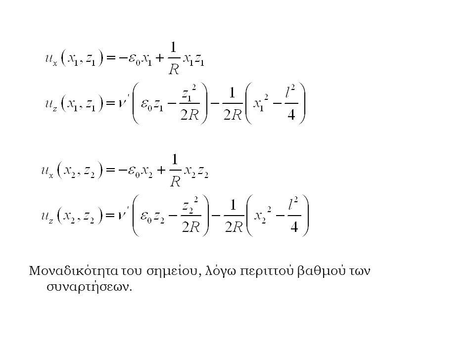 Μοναδικότητα του σημείου, λόγω περιττού βαθμού των συναρτήσεων.