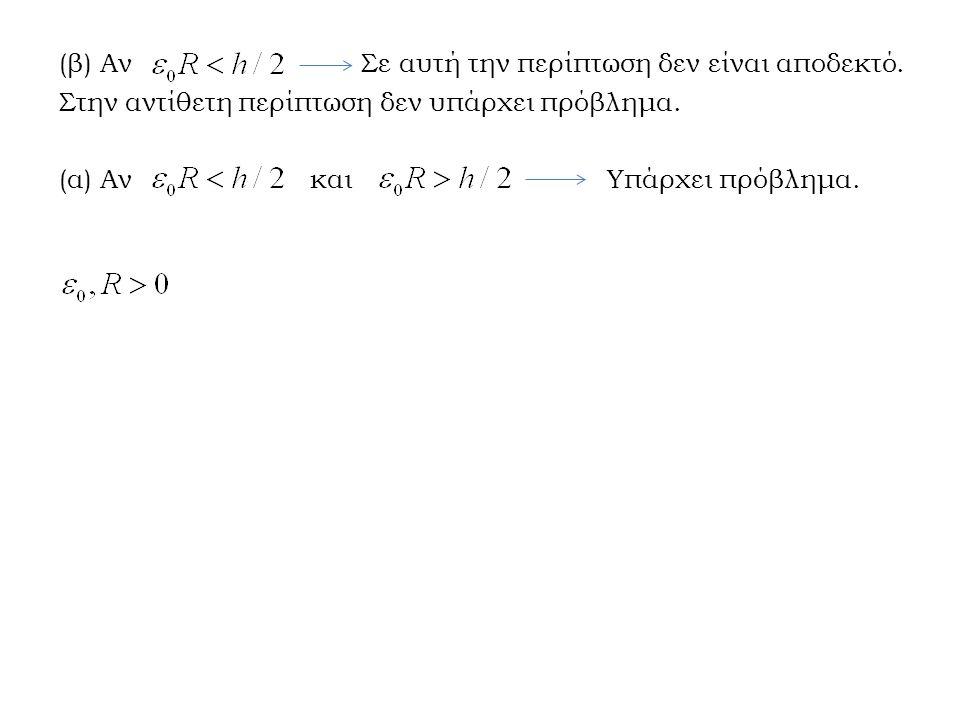 (β) Αν Σε αυτή την περίπτωση δεν είναι αποδεκτό. Στην αντίθετη περίπτωση δεν υπάρχει πρόβλημα. (α) Αν και Υπάρχει πρόβλημα.